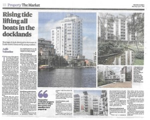 The Irish Times 160408 - Rising tide lifting all boats in the docklands